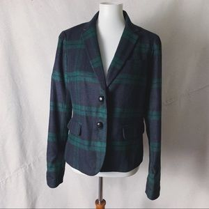 GAP Academy Blazer Black Watch Plaid Size 10